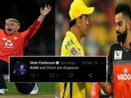 England spinner Matt Parkinson's old tweets about Virat Kohli and MS Dhoni go viral