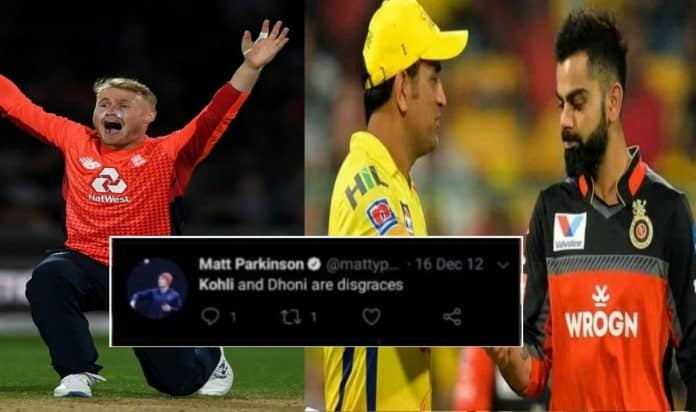 England spinner Matt Parkinson's old tweets about Virat Kohli and MS Dhoni go viral