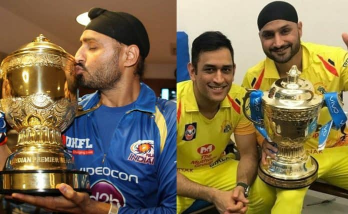 Harbhajan in CSK and MI