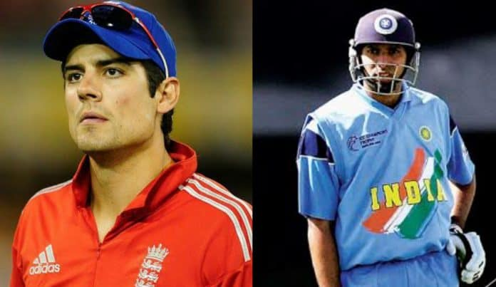Alastair Cook and VVS Laxman