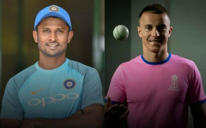 Krishnappa Gowtham and Tom Curran IPL