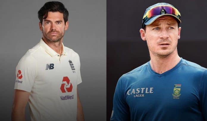 Dale Steyn and James Anderson