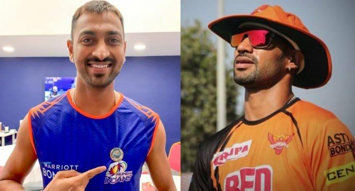 Krunal Pandya and Shikhar Dhawan