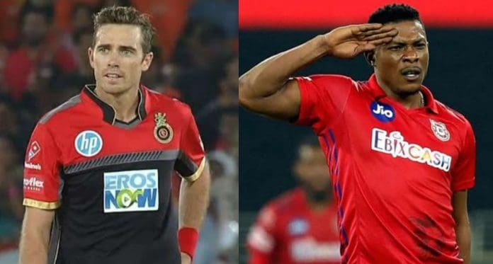 Tim Southee and Sheldon Cottrell