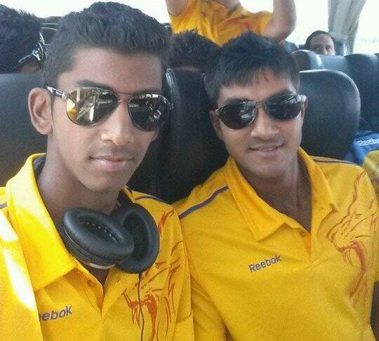 Baba Aparajith and Vijay Shankar CSK