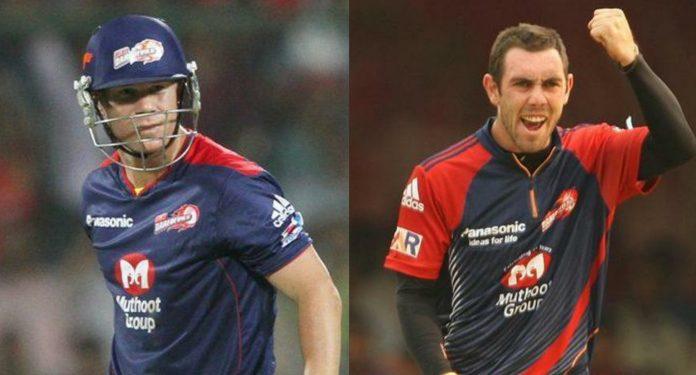 David Warner and Glenn Maxwell IPL