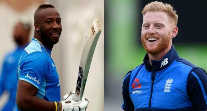 Andre Russell and Ben Stokes