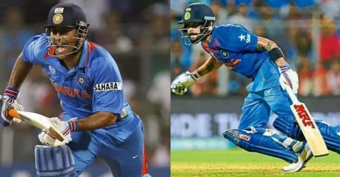 MS Dhoni and Virat Kohli ODI