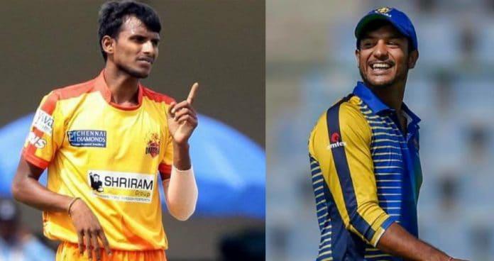 Natarajan and Mayank Agarwal IPL
