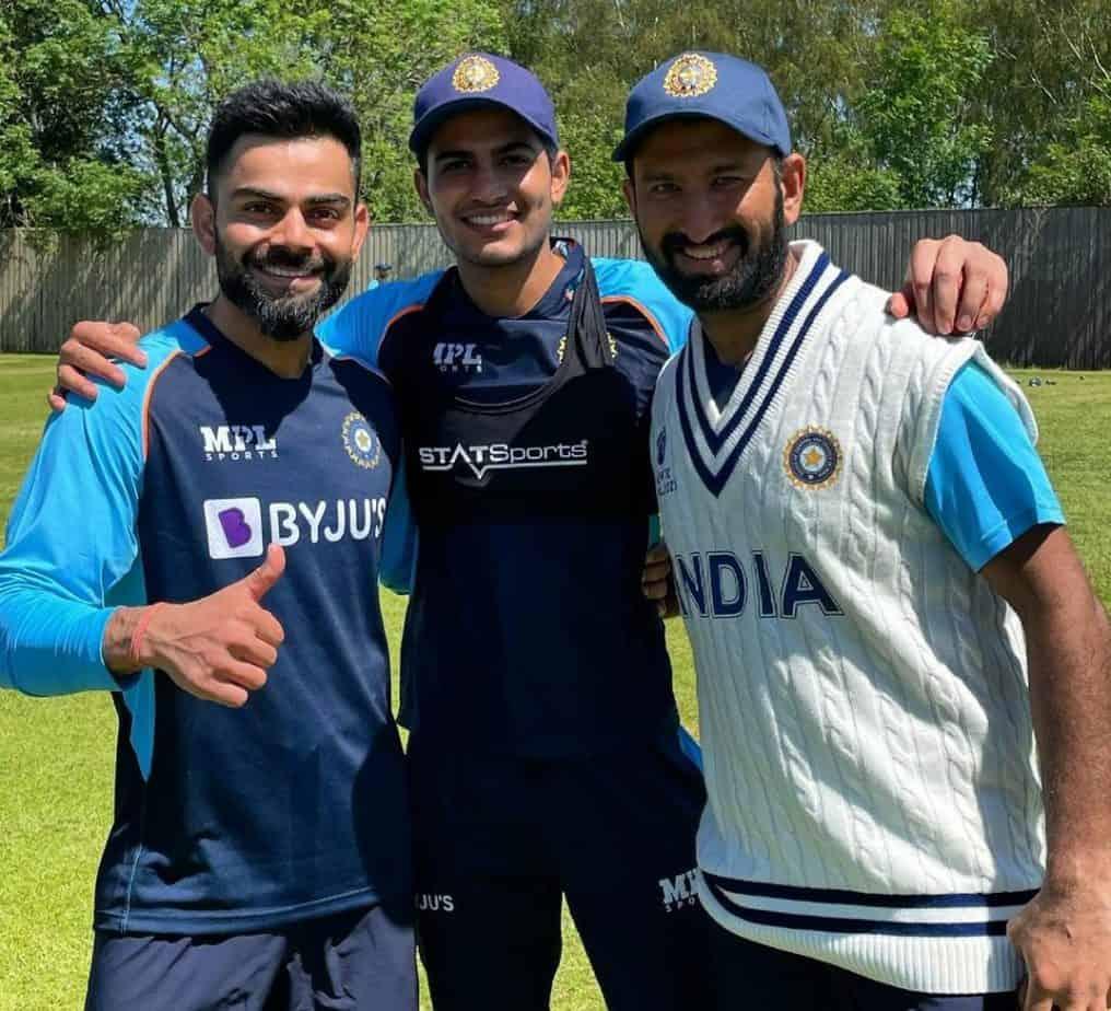Virat Kohli,Shubman Gill and Cheteshwar Pujara