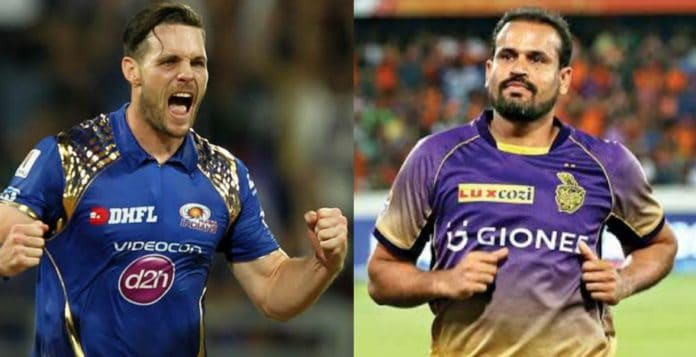 Mitchell McClenaghan and Yusuf Pathan