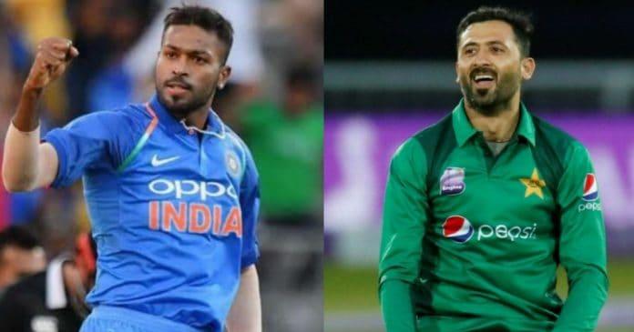 Hardik Pandya and Junaid Khan Cricket