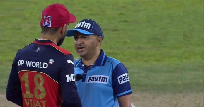 Virat Kohli and Umpire IPL